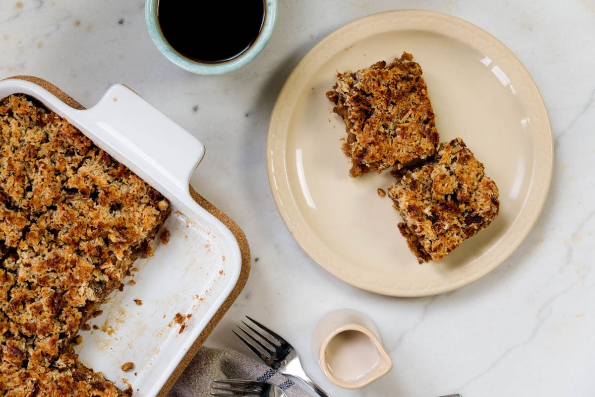 Oatmeal Cake + Caramelized Frosting | Wyse Guide