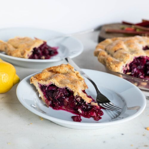 Rhubarb + Blueberry Pie | Wyse Guide