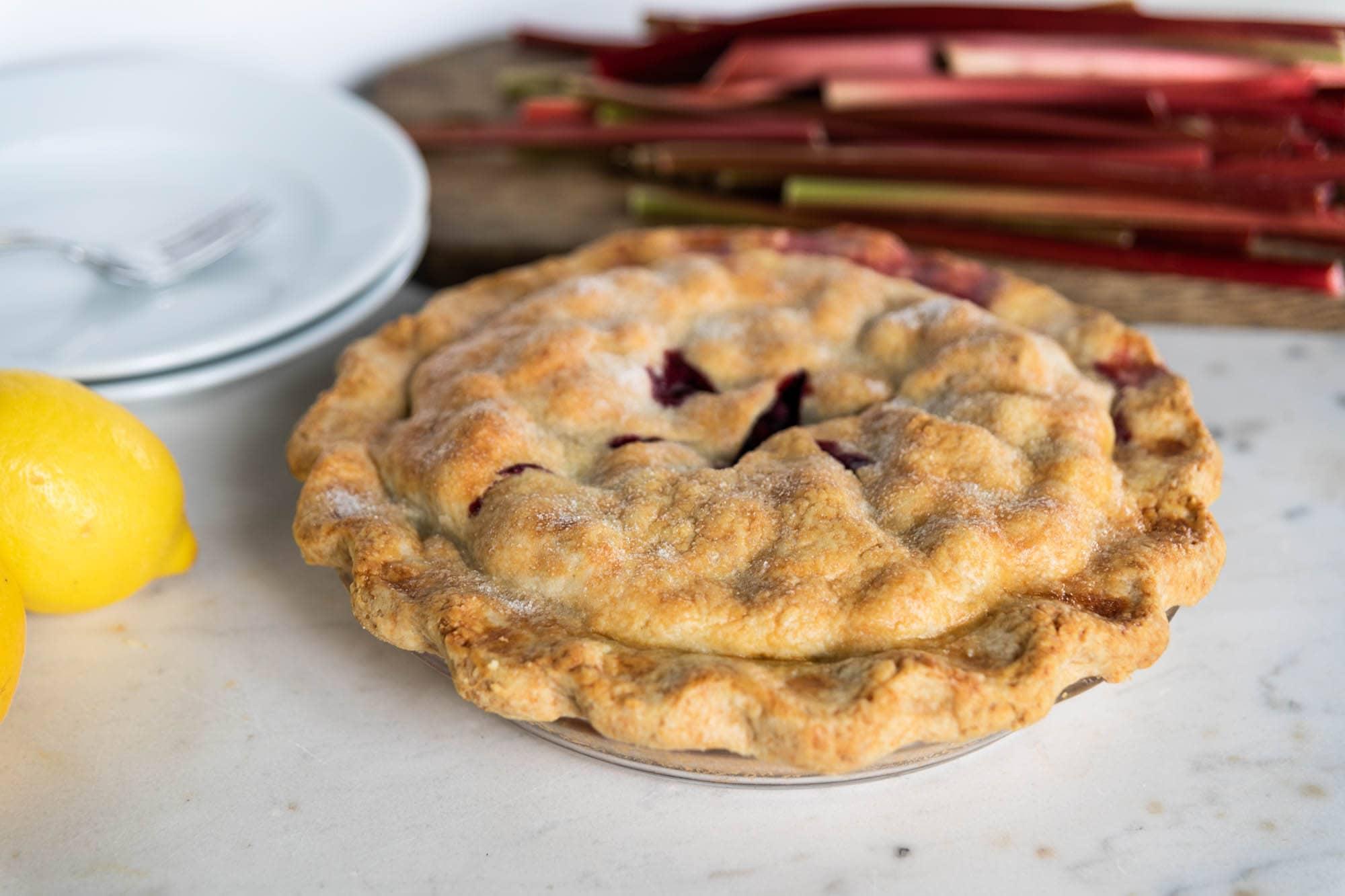 Rhubarb + Blueberry Pie   Wyse Guide
